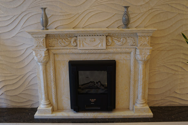 Marble fireplace fabrication