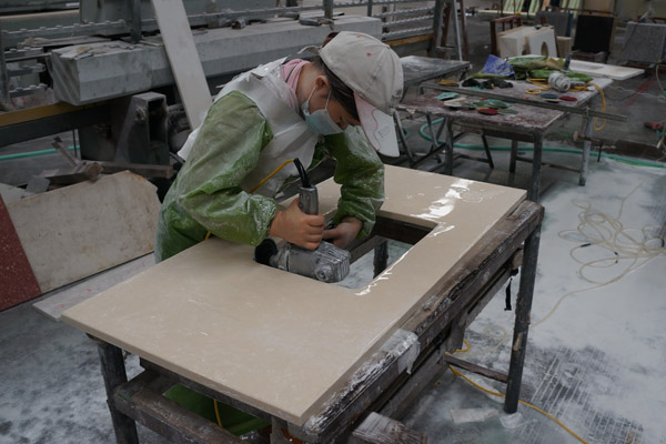 China marble top fabrication
