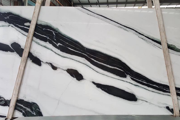 White and black marble slab nice color