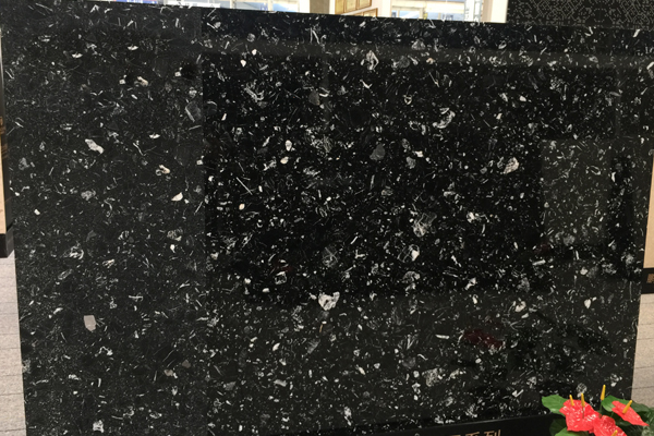 Big slab black marble stone
