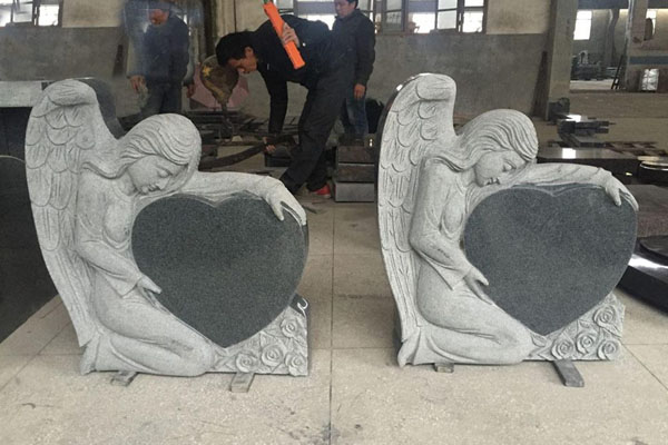 angel tyle granite headstones