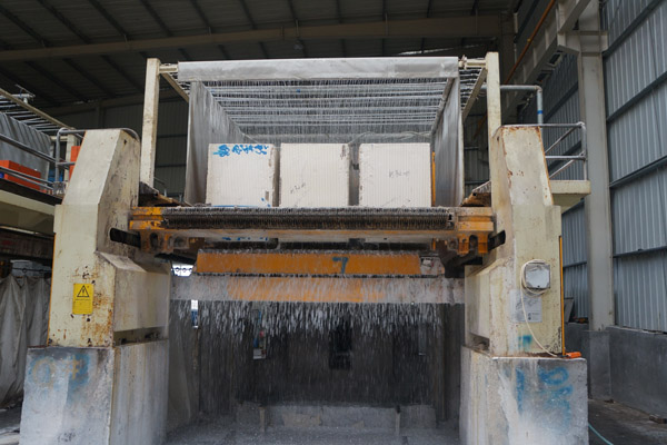 marble blocks cutting slabs