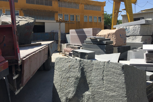 natural granite headstone processing