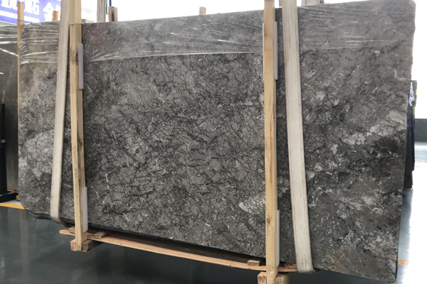 imported grey marble slab