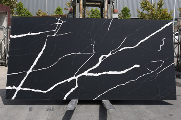 black quartz slab countertop