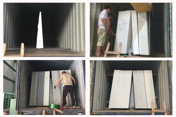 how to load quartz slabs in container