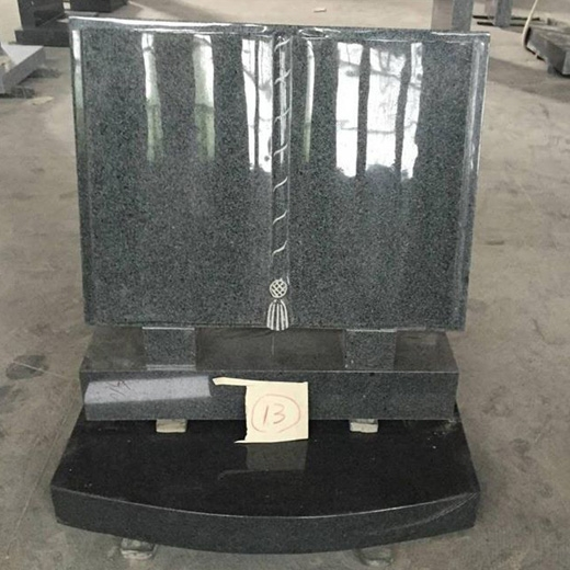 Black granite headstones for graves