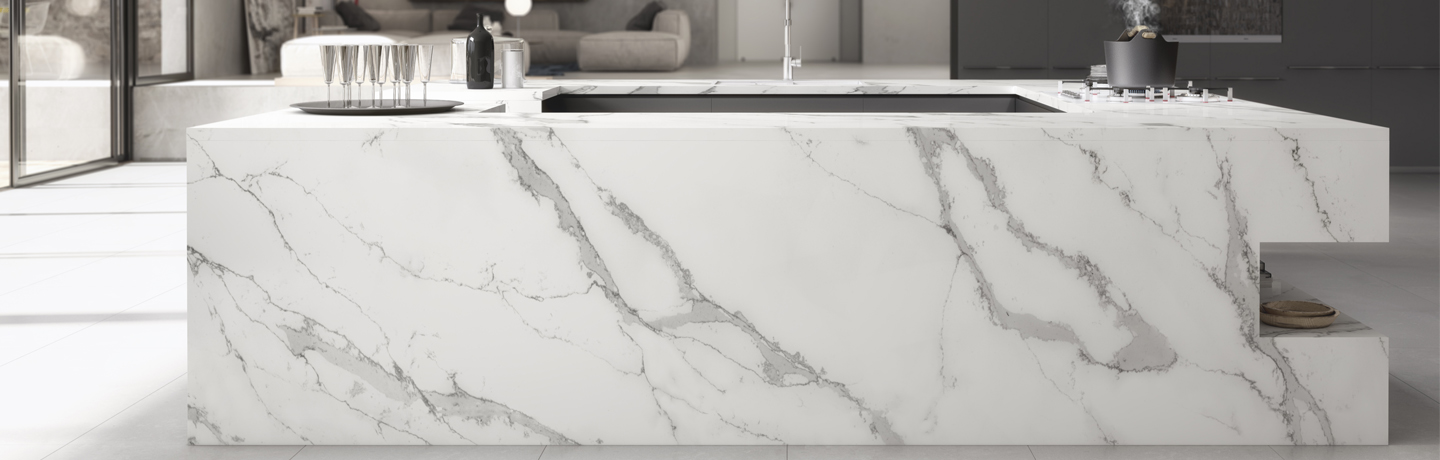 Calacatta quartz counter top