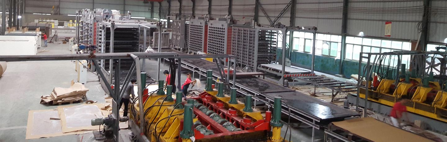 Chinese quartz slabs manufacturer production lines